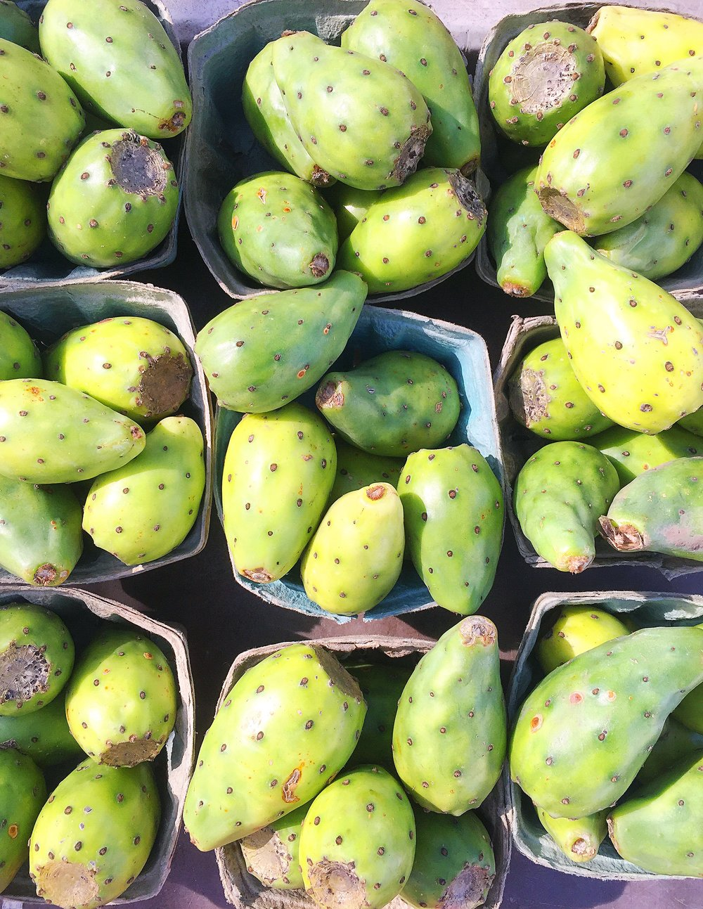Prickly Pears at the farmers market.