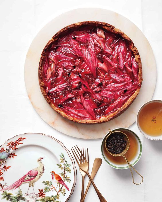 Rhubarb-Strawberry Tart from Martha Stewart.