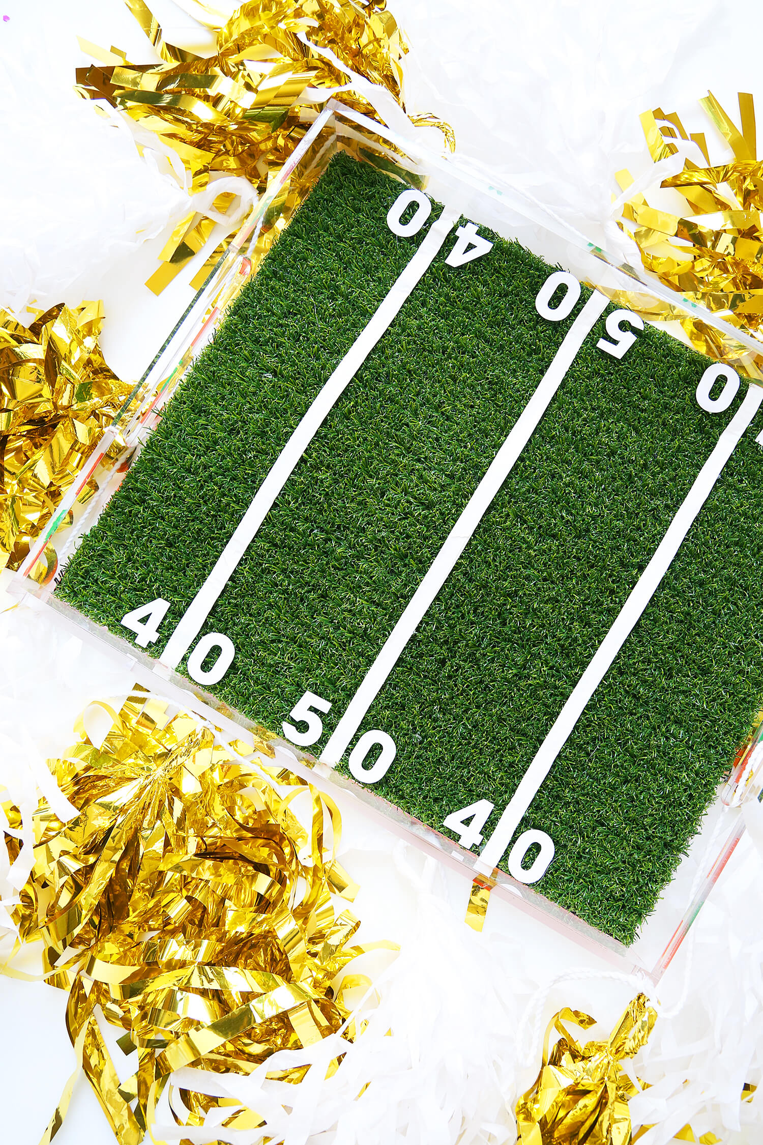 DIY Football Field Tray - Super Bowl Party Ideas