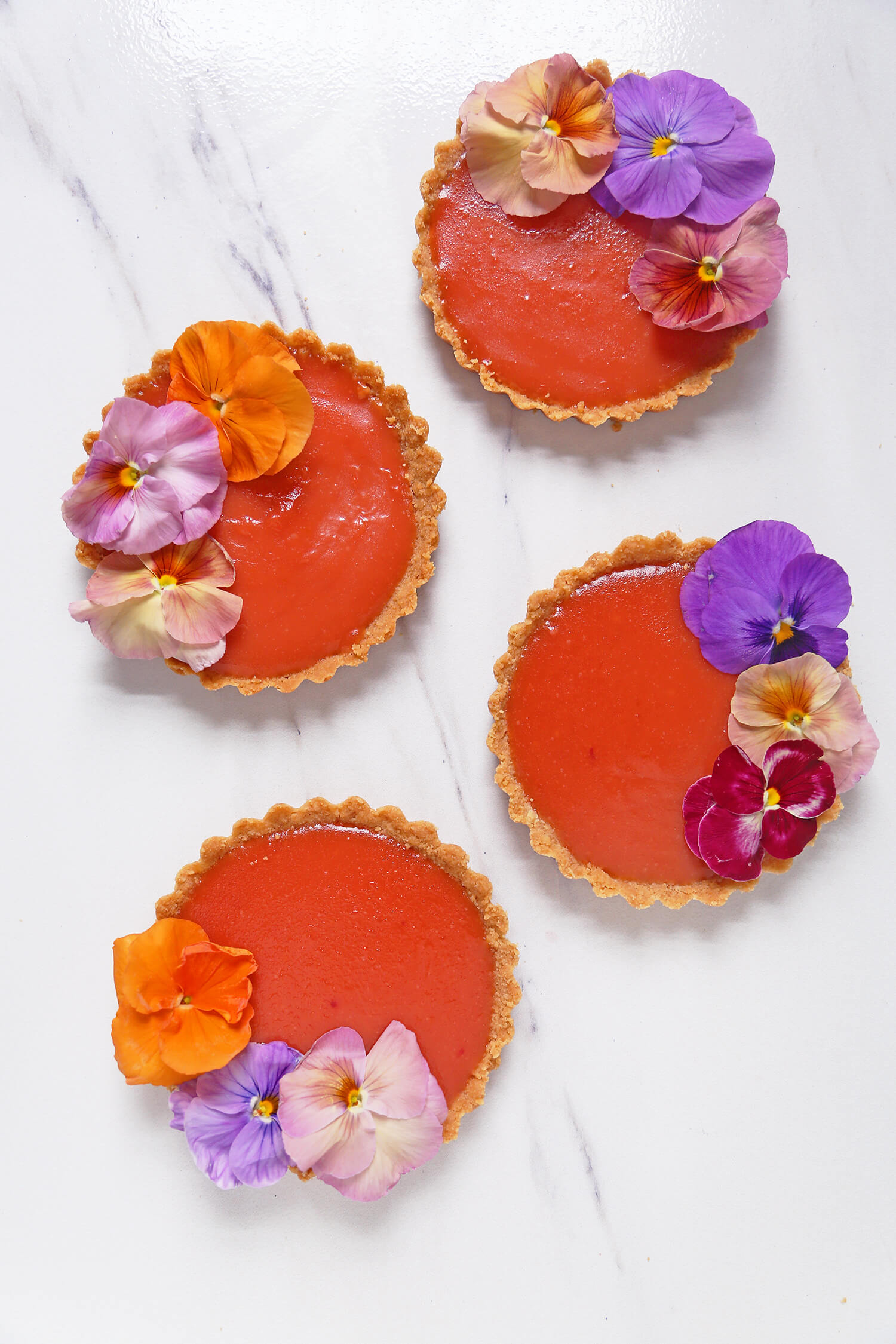 Blood Orange Negroni Tartlets