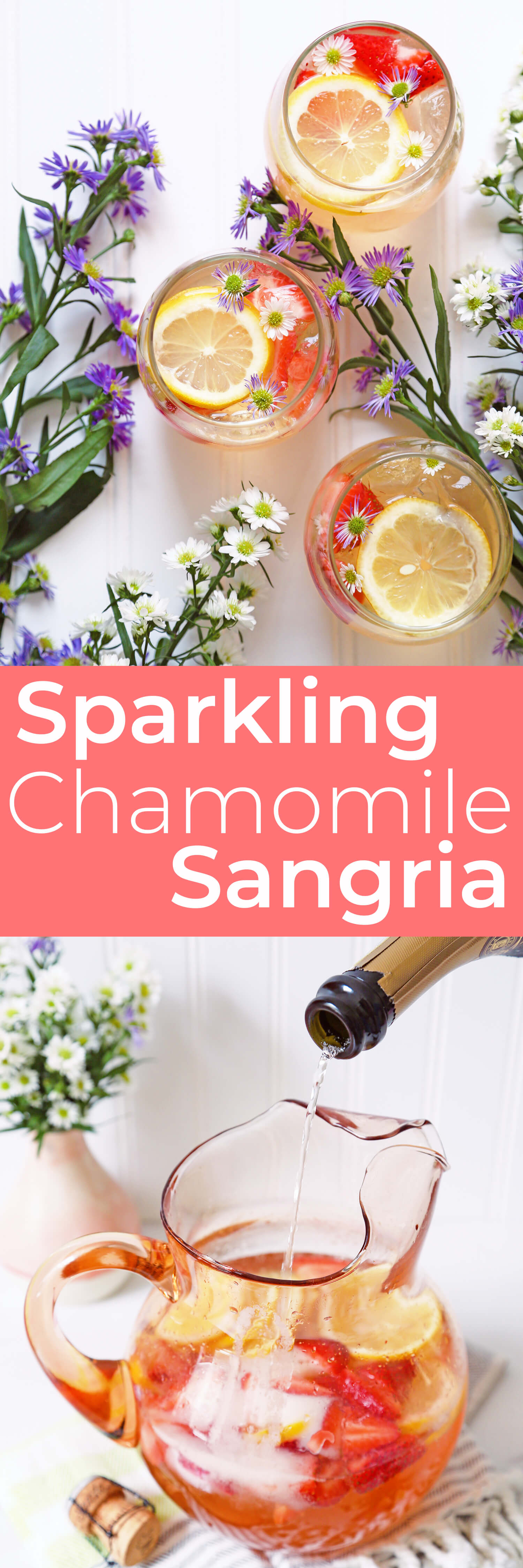 Summer Solstice Sparkling Chamomile Sangria