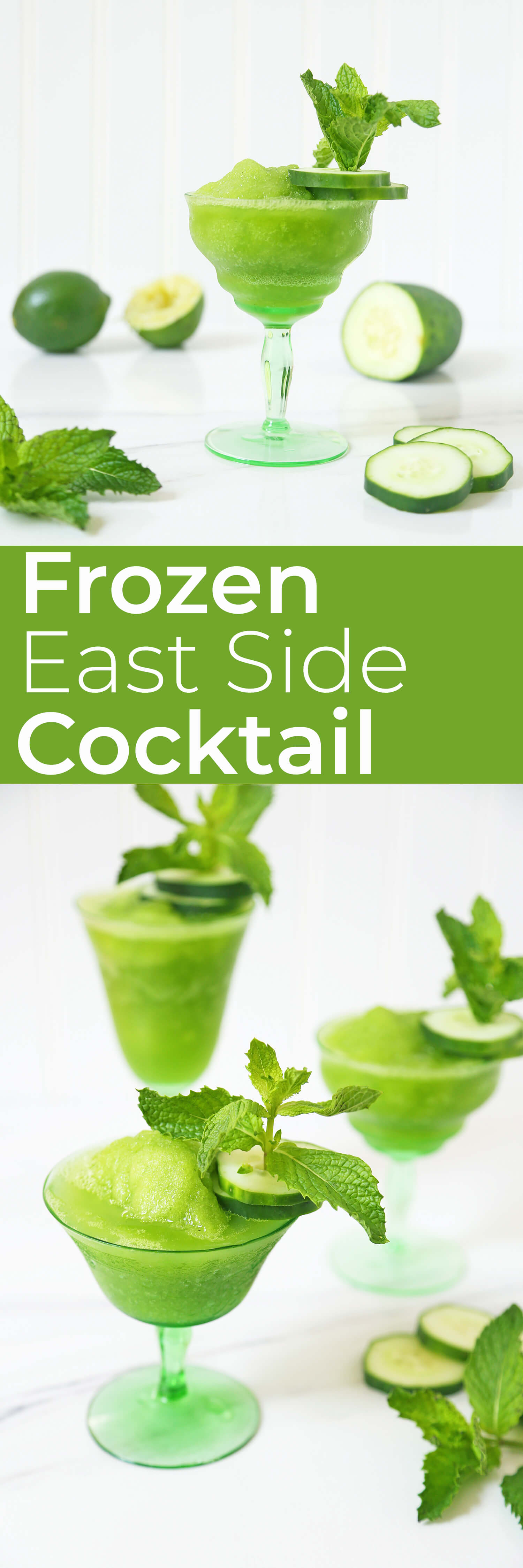 Cool off with the Frozen East Side Cocktail