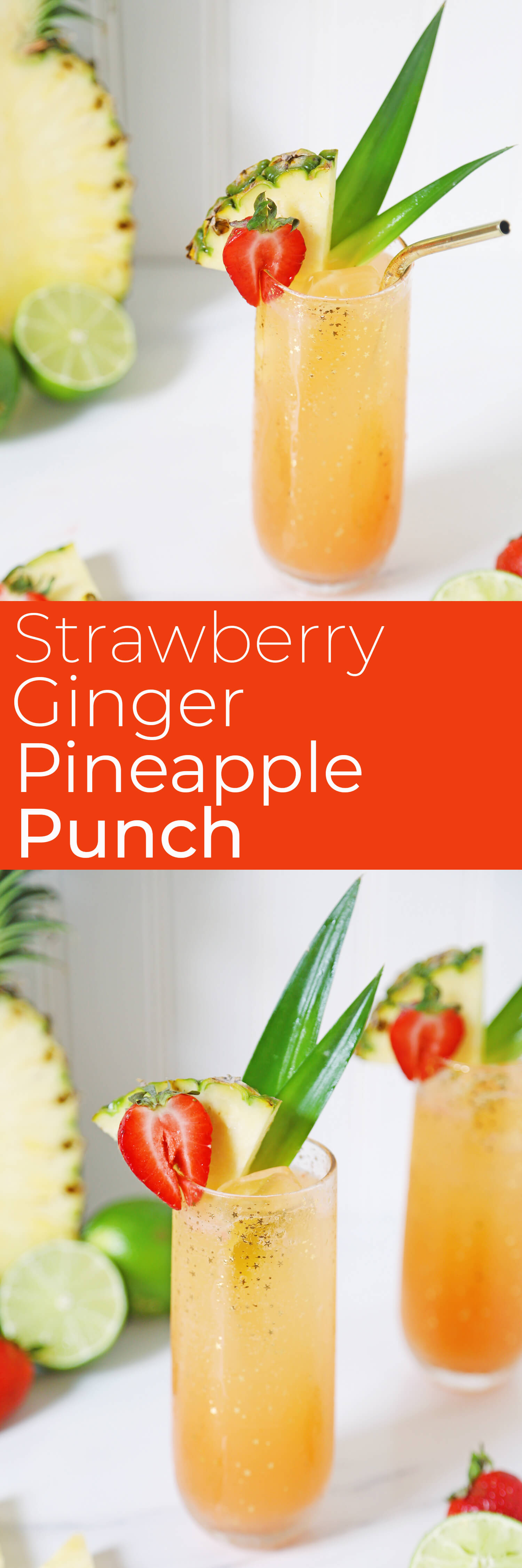 Strawberry Ginger Pineapple Punch