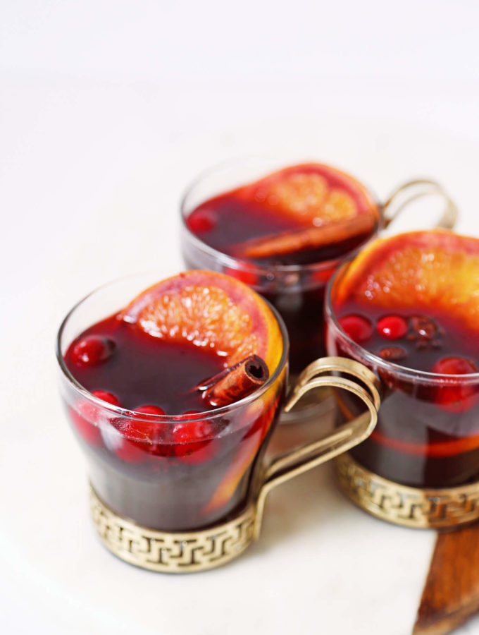 Cranberry Mulled Wine for Fall Entertaining