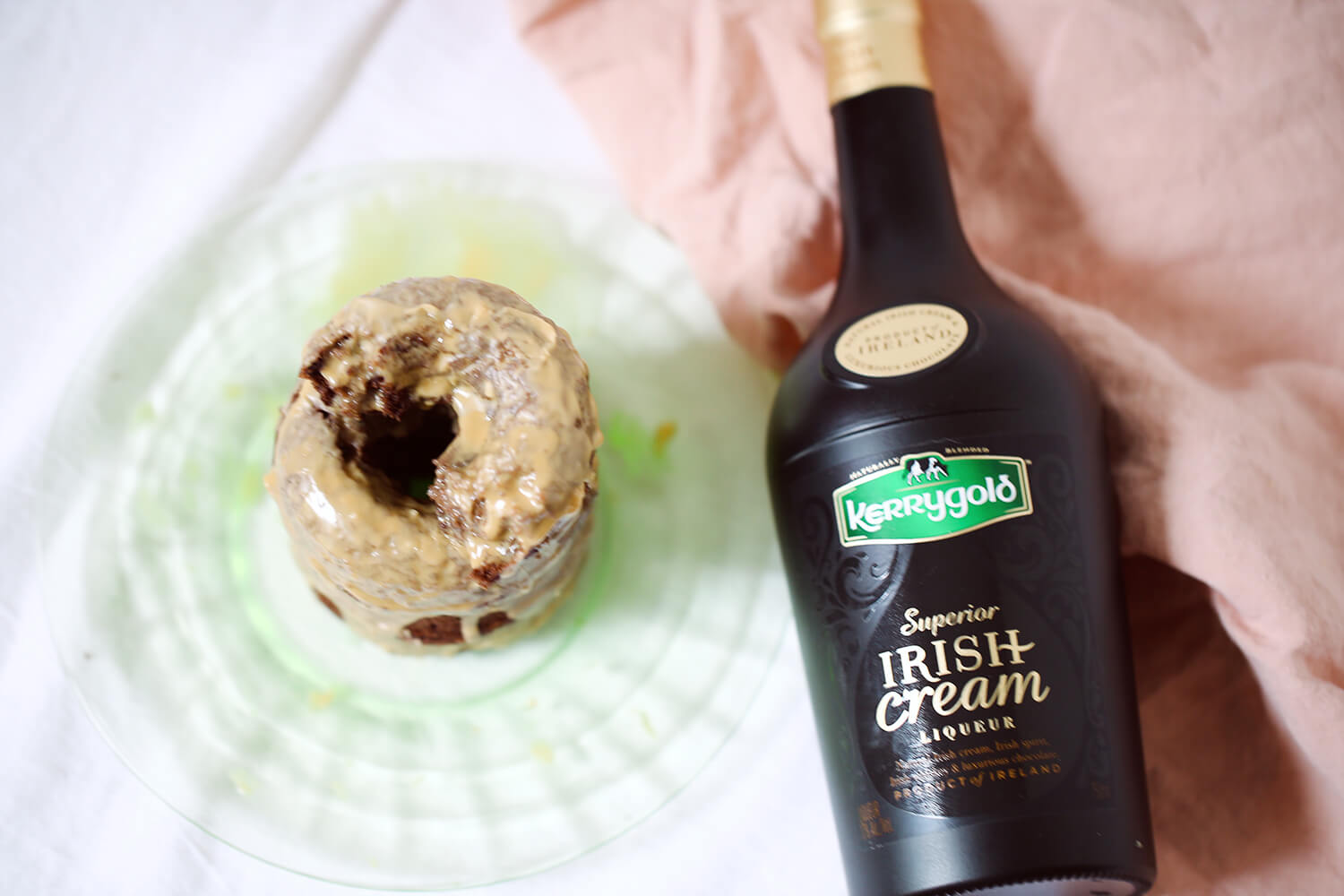 Espresso Donuts with Irish Cream Glaze
