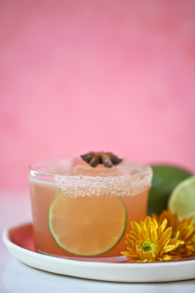 Recipe for the Harvest Margarita with spiced agave syrup